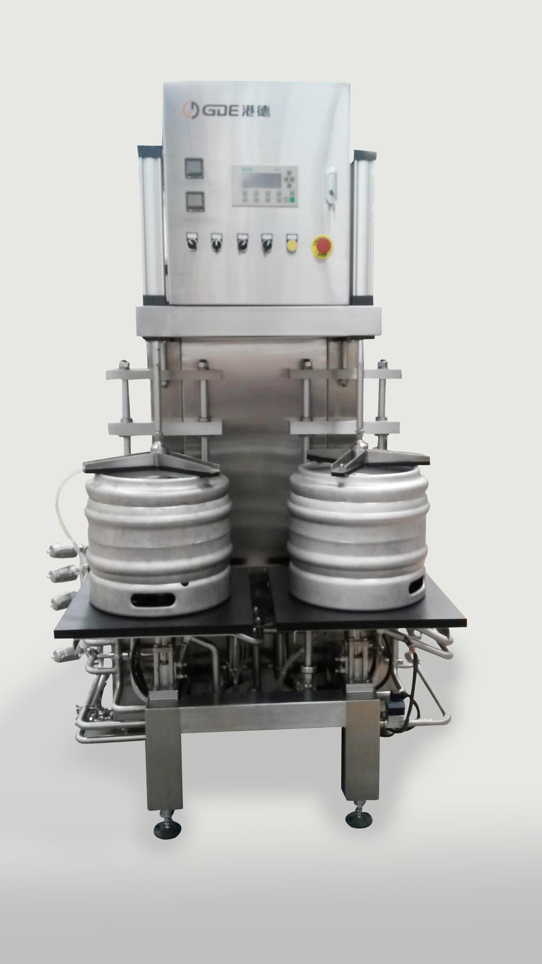 双工位半自动啤酒桶清洗灌装机