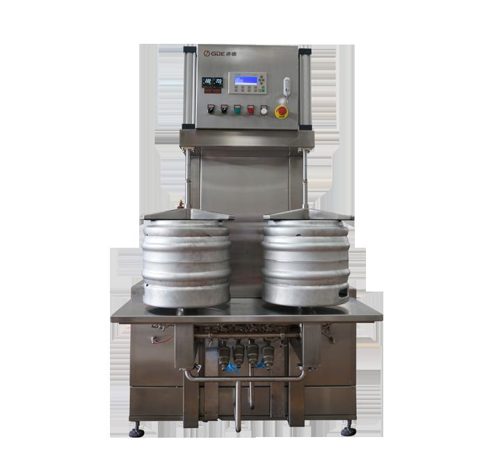 半自动双工位啤酒桶清洗机